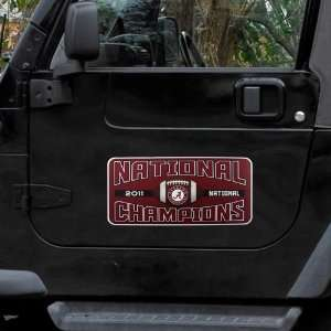 NCAA Alabama Crimson Tide 2011 BCS National Champions Banner Magnet