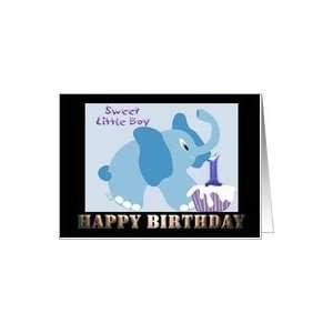 Birthday Little boy 1st birthday Happy Birthday card Card Toys