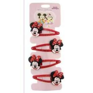 Minnie Mouse hair clips   4 pcs set: Everything Else