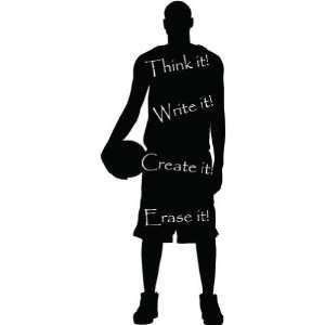 Chalkboard Basketball Player  Large  Vinyl Wall Decal