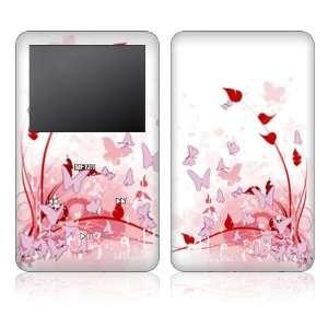 Apple iPod 5th Gen Video Skin Decal Sticker   Pink Butterfly Fantasy