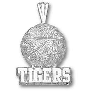 Louisiana State University Tigers BBall Pendant (Silver)