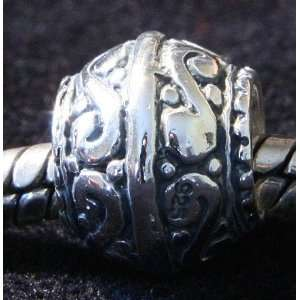 Silver Spacer Bead Charm Fancy Fits Pandora Bracelets