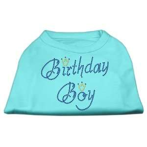 Dog Supplies Birthday Boy Rhinestone Shirts Aqua M (12) Pet Supplies