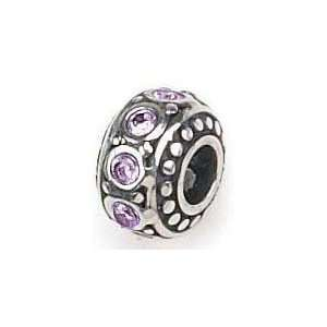 Authentic Zable June Crystal Birthstone 925 Sterling Silver Bead Charm