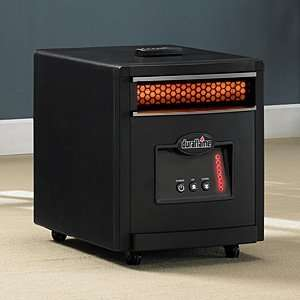 Ft Portable Infrared Heater in Black Finish   8HM1500