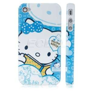 Ecell   BLUE HELLO KITTY BOOK HARD BACK CASE COVER FOR