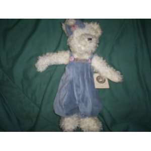 Boyds Plush Fuzzy White Teddy Bear Big 14 Floppy WINNIE II #91207 01