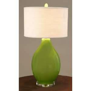 Raschella Collection Lime Green Glass Table Lamp Home Improvement