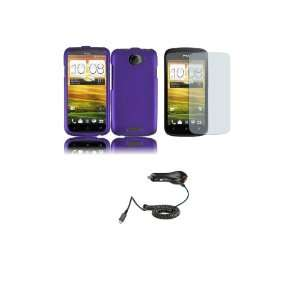 One S (T Mobile) Premium Combo Pack   Purple Hard Shield Case Cover