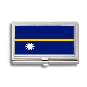 Nauru Nauruan Flag Business Card Holder Metal Case