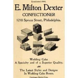 Confectioner Wedding Cake Box   Original Print Ad