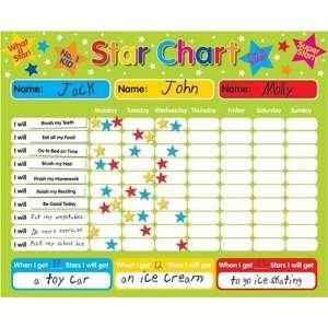 / Responsibility / Behavior Chart for up to 3 Children. Rigid board