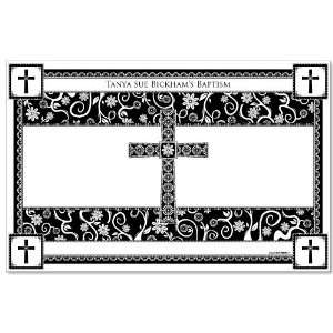 Black & White Cross   Personalized Baptism Placemats Toys & Games