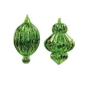 Emerald Green Antique Glass Bulb Christmas Ornaments