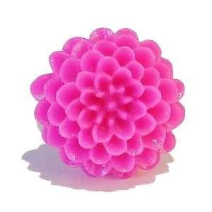 Black Cat Jewellery Store Resin Chrysanthemum Flower Ring   Hot Pink