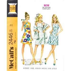 McCalls 2446 Sewing Pattern Dress Cocktail Sundress Stole