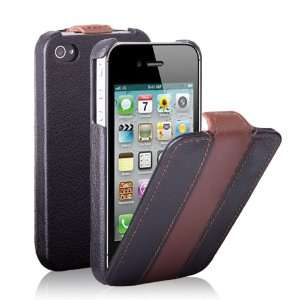 CE Compass Coffee Stripe Flip Leather Case Cover Pouch For