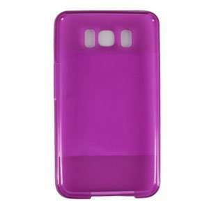 Hot Pink Crystal Clear Gel Hard Protector Case for HTC Leo