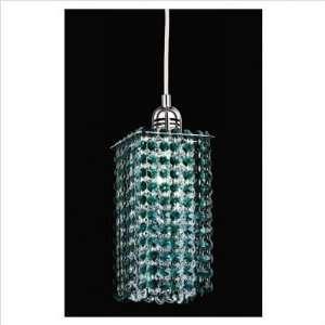 Nulco Lighting Ceiling Pendants 281 5X9 EG CR Emerald Green Crystal