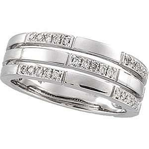 Carat Total Weight Diamond Ring set in 14 kt White Gold(6.5) Jewelry