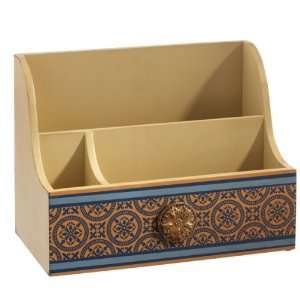 Set of 2 Midwest Style Desk Organizers with Gold Knob