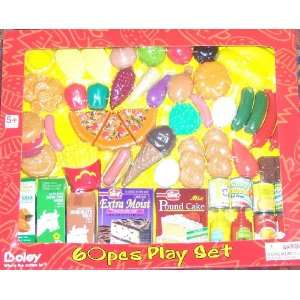 60 Piece Pretend Play Grocery Food Set Toys & Games