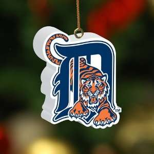 Pack of 4 MLB Detroit Tigers 3 D Christmas Ornaments