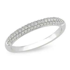 1/4 Carat Diamond 14K White Gold Anniversary Ring Jewelry