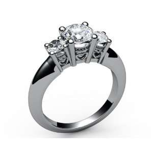 White gold Heart trellis 3 stone Diamond Ring (1.00 ct. tw.) Jewelry