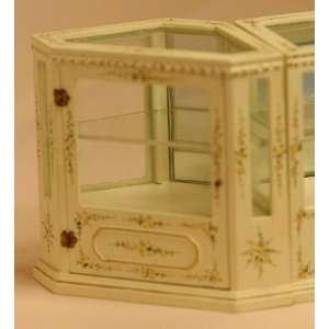 Dollhouse Miniature White Handpainted Corner Shop Counter