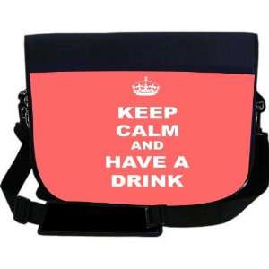 Calm and have a Drink   Tropical Pink Color NEOPRENE Laptop Sleeve