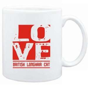 Mug White  LOVE British Longhair  Cats Sports