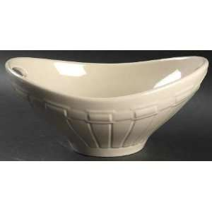 Ivory Oval Handled Bowl, Fine China Dinnerware Kitchen & Dining