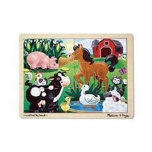 Melissa & Doug Jigsaw Puzzle Farm Animals Toys & Games