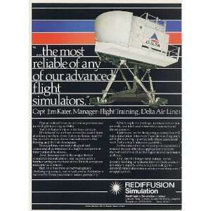 1984 Delta Airlines Flight Simulator Rediffusion Simulation