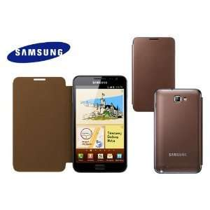 Original Samsung Galaxy Note Flip Cover   7.35 Brown   EFC