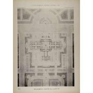 Architecture Building Floor Plan   Original Print