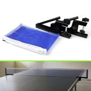 Folding Table Tennis Ping Pong Ball Net and Black Post Set
