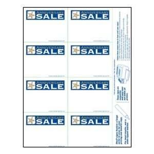 Anniversary Sale   Small Item Price Shelf Signs (800pk