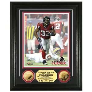 Falcons Michael Turner 24KT Gold Coin Photo Mint
