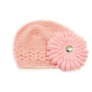 Fits 0   9 Months With a 4 Pink Gerbera Daisy Flower Hair Clip Baby
