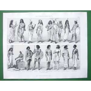 Egyptians Pharaoh Queens Priests     SUPERB Vintage Antique Print