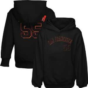 Tim Lincecum San Francisco Giants #55 Youth Player Hoodie   Black