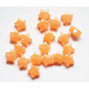 Optic Orange Nightglow Glow in the Dark 13mm Star Beads