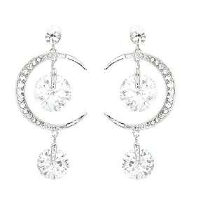 Perfect Gift   High Quality Crescent Earrings with Silver