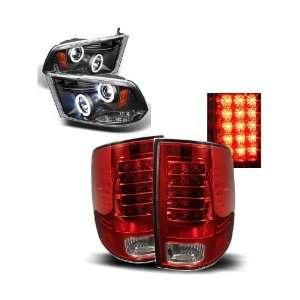 09 10 Dodge Ram 1500 Black CCFL Halo Projector Headlights