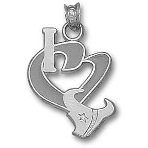 Houston Texans NFL I Heart Logo 3/4 Enamel Pendant