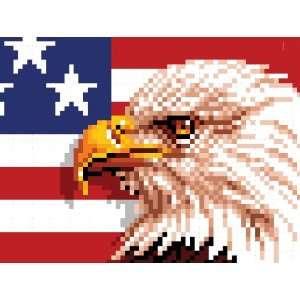 WonderArt 15x20 Latch Hook Kit American Eagle Home