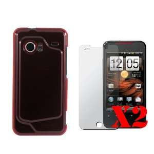 for the New HTC Droid Incredible  Crystal/Hard Case (Red Case